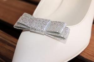 Aplikacja Inez, srebrny brokat